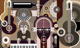 Konzert - Vektorillustration Lizenzfreies Stockbild