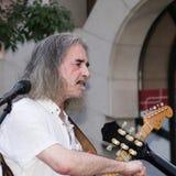 Konzert von Fekete Jeno auf Keszthely-Straßenfest Stockbild