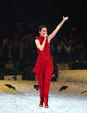 Konzert von Gigi Leung in gehangenem Hom Stockfotografie