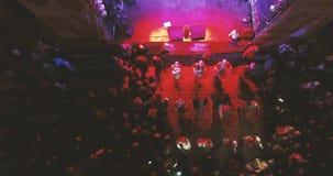 Konzert, welches das neue Jahr 2017 feiert stock footage