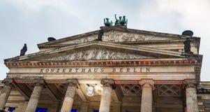 Konzerthaus Berlín en el cuadrado de Gendarmenmarkt, Berlín, Alemania Fotografía de archivo