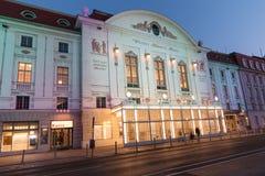 Konzerthaus Vienna at night Stock Image