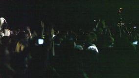 Konzertleute stock video