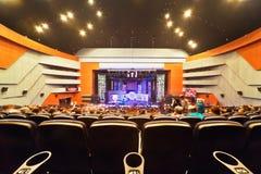 Konzertsaal, Ansicht über Stufe Lizenzfreies Stockbild