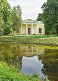 Konzertsaal in Catherine-Park Tsarskoe Selo Stockfotos