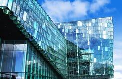 Konzertsaal in Reykjavik Stockfoto