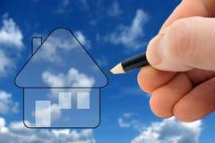 Konzipieren Sie Ihr Traumhaus Stockfotos