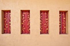 Konzipierte Fenster des Weinlesehauses Lizenzfreie Stockbilder