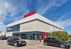 Konzum chain supermarket in Novigrad, Croatia. Stock Photography