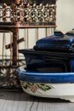 Kooi en potten Royalty-vrije Stock Foto's