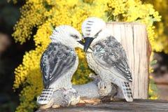 Kookaburra雕象 库存照片