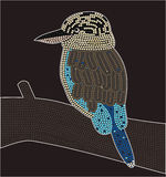 Kookaburra. A illustration based on aboriginal style of dot painting depicting kookaburra Royalty Free Stock Image