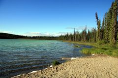 Kookatsoon Lake. In Yukon, Canada Royalty Free Stock Photography