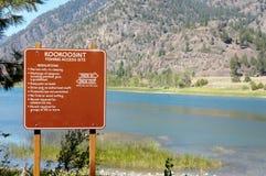 Kookoosint, Montana, pescando el acceso fotografía de archivo libre de regalías