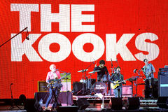 The Kooks (indie band) live music show at Bime Festival Stock Images