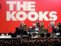 Kooks muzyka na żywo przedstawienie przy Bime festiwalem (zespół) Obrazy Stock