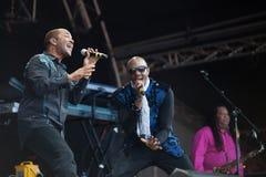 Kool e o grupo vivo no festival de Westport Imagem de Stock Royalty Free