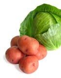 Kool en aardappels Royalty-vrije Stock Afbeeldingen