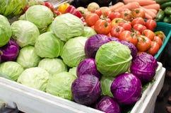 Kool en groenten Stock Foto