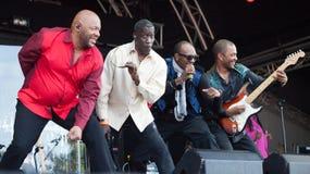 Kool et la bande vivante au festival de Westport Photos stock