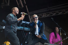 Kool und die Gruppe Live am Westport-Festival Lizenzfreies Stockbild