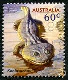 Koolasuchas Australian Postage Stamp Royalty Free Stock Photo