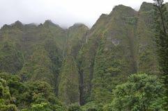 Koolau Mountain Waterfall Royalty Free Stock Photography
