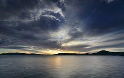 从Koolewong的看法横跨'布里斯班水 库存照片