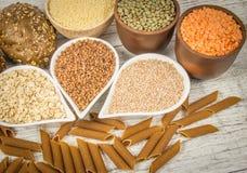 Koolhydraten - een basisenergiebron voor het menselijke lichaam stock afbeelding