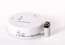Koolmonoxidealarm met batterij Stock Afbeeldingen