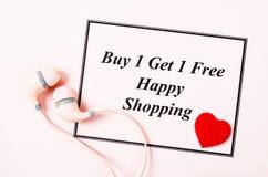 Koop één krijgen één vrije verkoop Royalty-vrije Stock Afbeelding