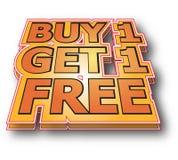 Koop 1 krijgen 1 vrij Royalty-vrije Stock Afbeelding