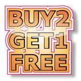 Koop 2 krijgen 1 vrij Royalty-vrije Stock Foto's