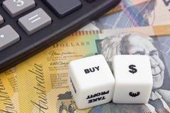 Koop Australische dollar Royalty-vrije Stock Foto's