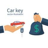 Koop auto, huurconcept royalty-vrije illustratie