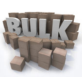 Koop Bulkword in Vele Vakjes Hoeveelheid van het Productvolume Stock Foto's