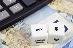 Koop Canadese dollar Stock Foto