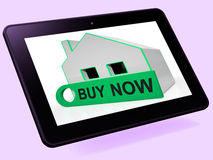 Koop de Middelen nu Uitdrukkelijke Rente van de Huistablet of maak een Aanbieding Royalty-vrije Stock Foto