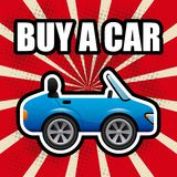 Koop een auto stock illustratie