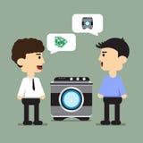 Koop een wasmachine Stock Fotografie