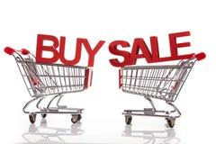 Koop en verkoop! stock foto's