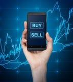 Koop en verkoop pictogram Stock Foto