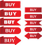 Koop etiket stock illustratie