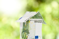 Koop finnancial huis royalty-vrije stock foto