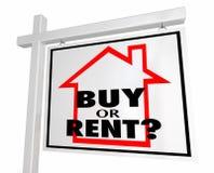 Koop of huur het Teken van het Bezitsreal estate van het Huishuis stock illustratie