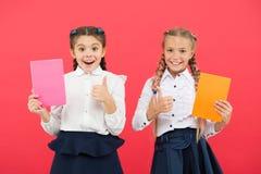 Koop leuke kantoorbehoeften voor pret het bestuderen Meisjes beroemd voor obsessie met kantoorbehoeften Boek van de de school het royalty-vrije stock foto's