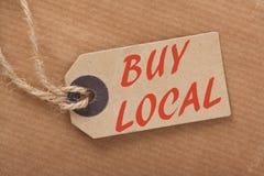 Koop Lokaal Prijskaartje Royalty-vrije Stock Afbeelding