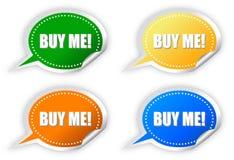 Koop me stickers Royalty-vrije Stock Afbeelding