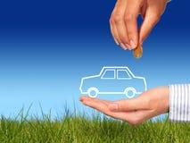 Koop nieuwe auto. Stock Afbeeldingen