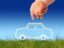 Koop nieuwe auto. Stock Fotografie